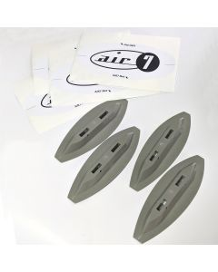 Air7 Mini Fin Box System For Foam Surfboards (Grey)